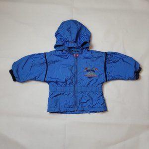2/$25 Girls 3T Fleece Lined OshKosh Windbreaker Blue